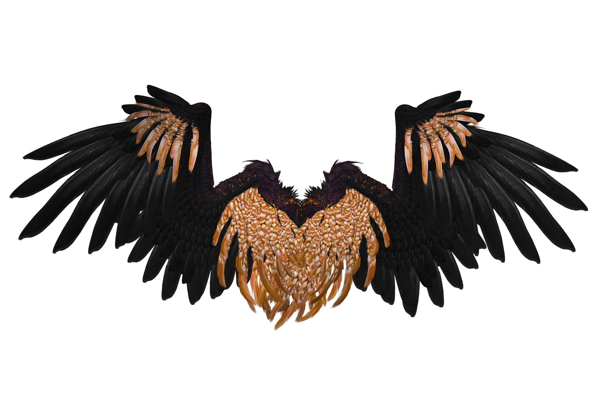 Angel wing d computer. Devil clipart wings