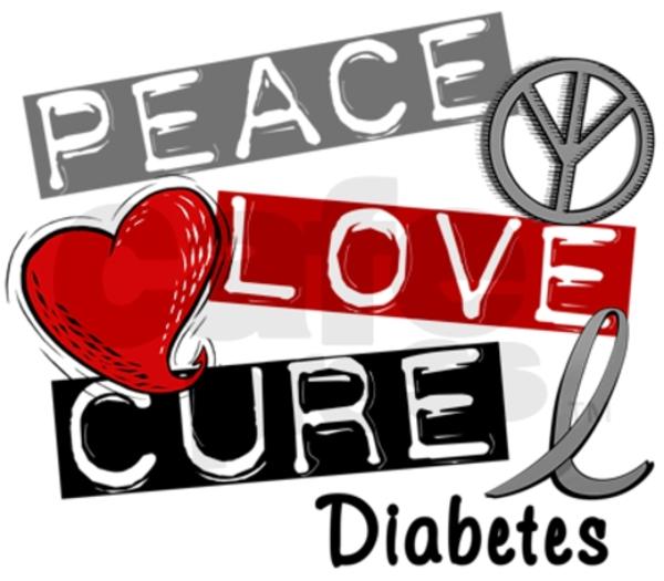 Peace love cure free. Diabetes clipart