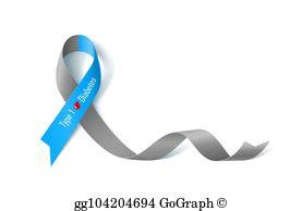 Ribbon clip art royalty. Diabetes clipart diabetes awareness