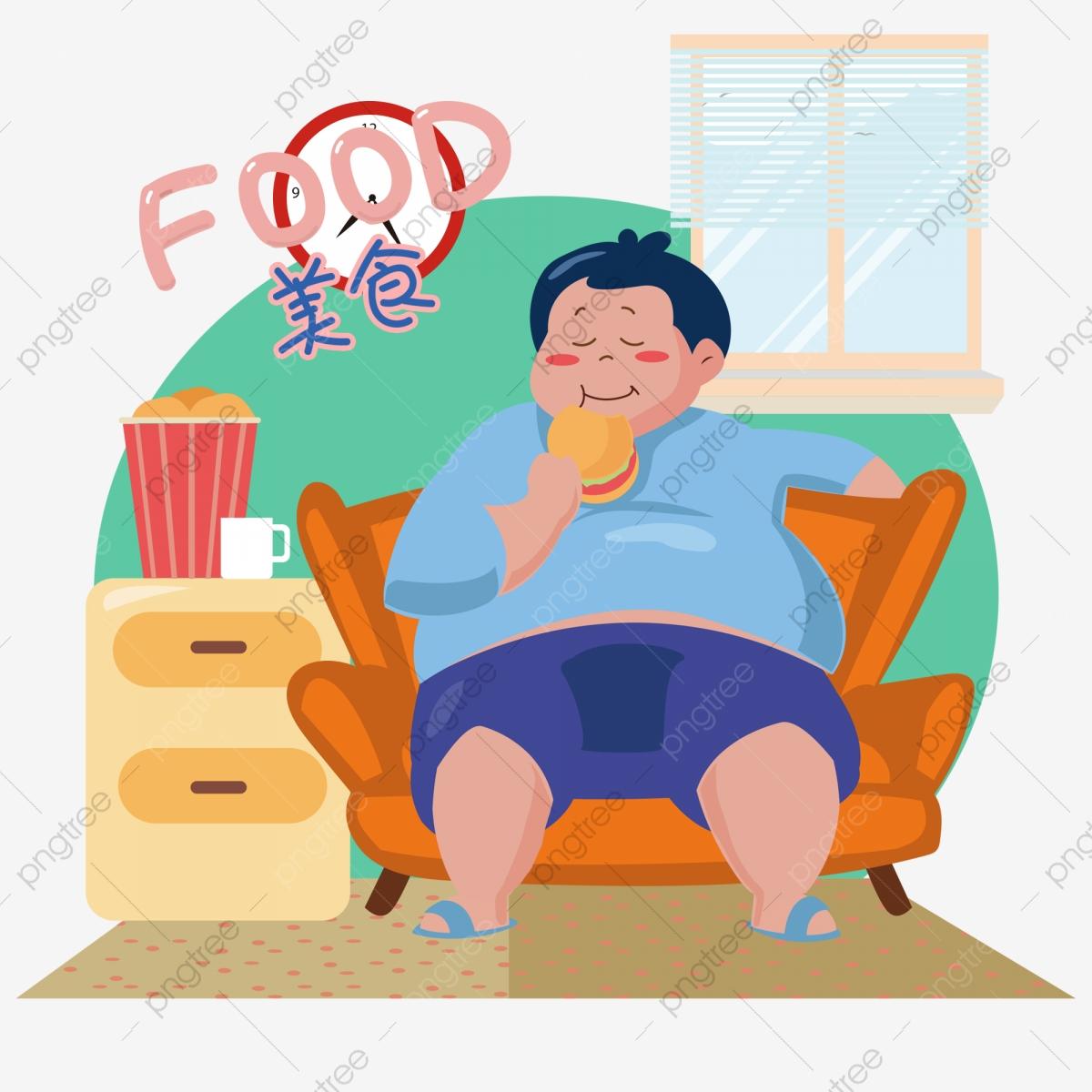 Diabetes clipart fat. A man sitting on