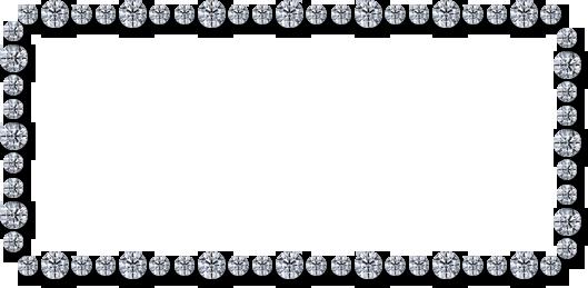 Diamond border png.  clip black and
