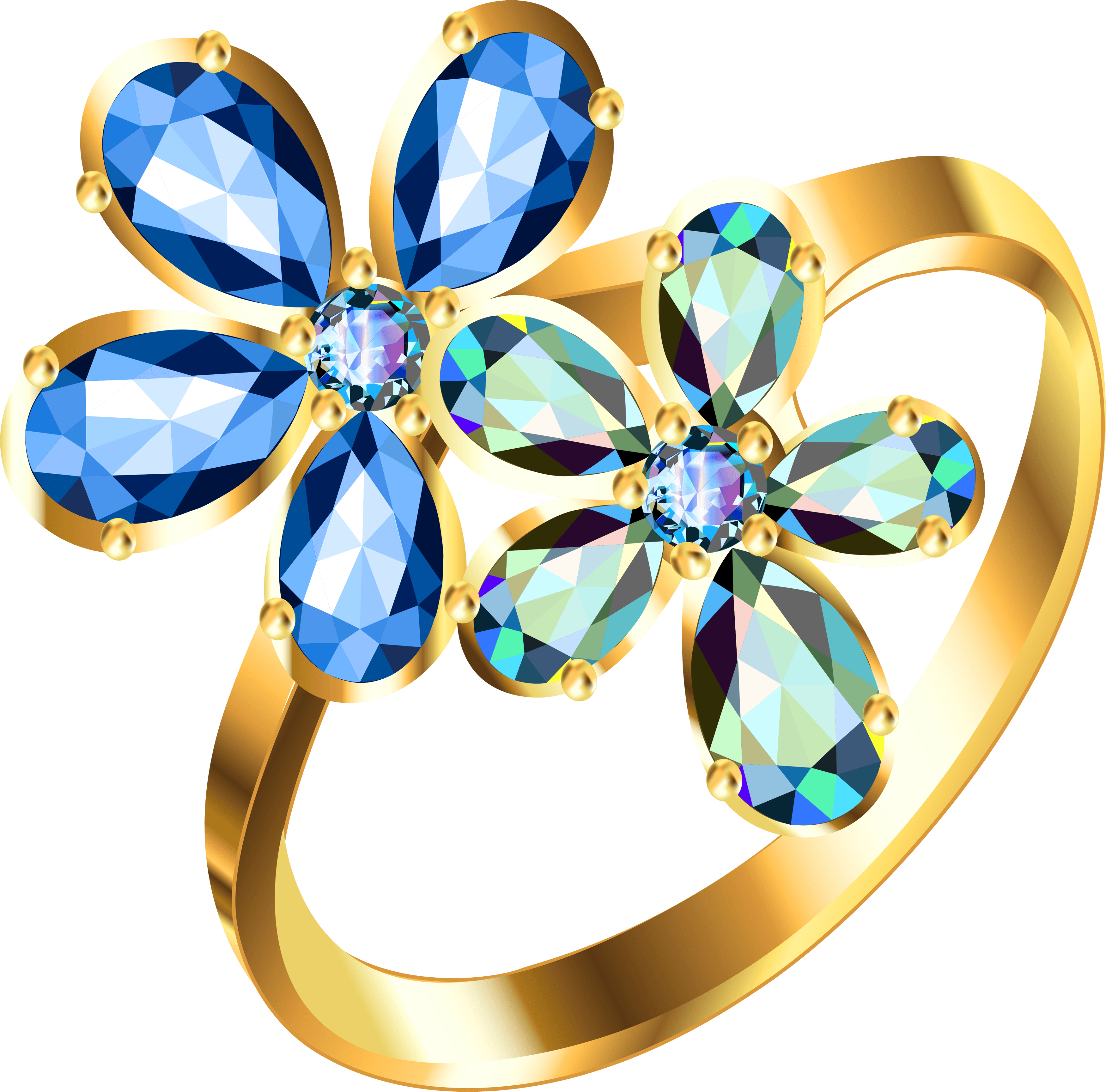 Gold ring png image. Diamonds clipart single