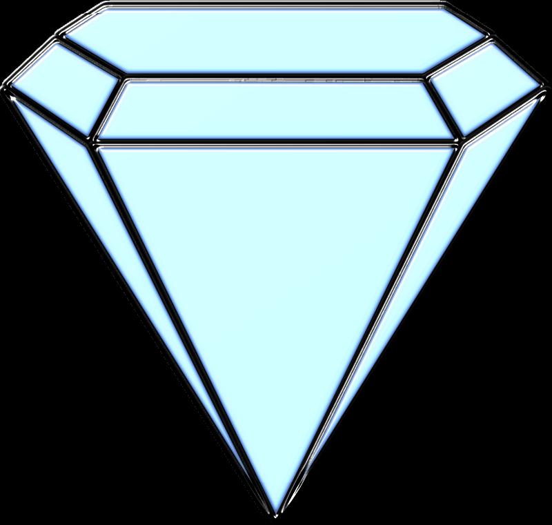 Diamond clipart basic. Blue medium image png