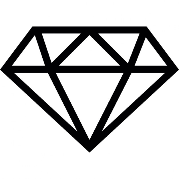 Free outline download clip. Diamond clipart basic