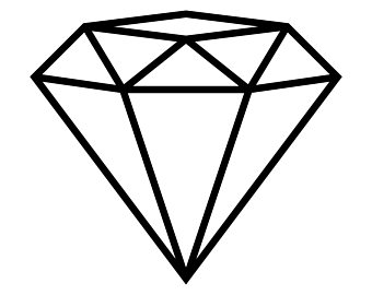 Diamond clipart black and white. Station