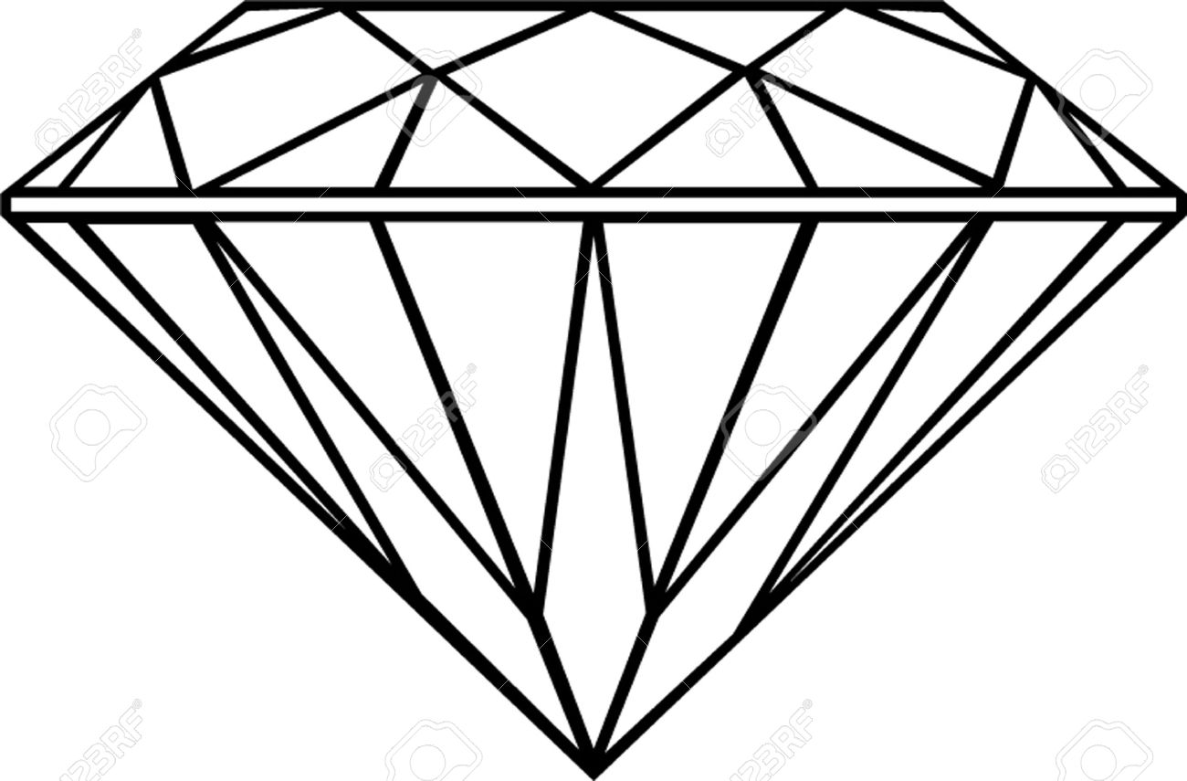 Diamond clipart black and white. Free download best