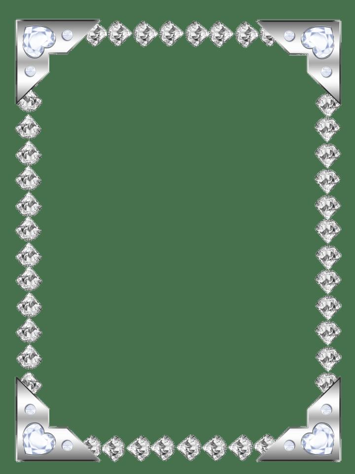 Diamond clipart borders. Frame frameswall co gems