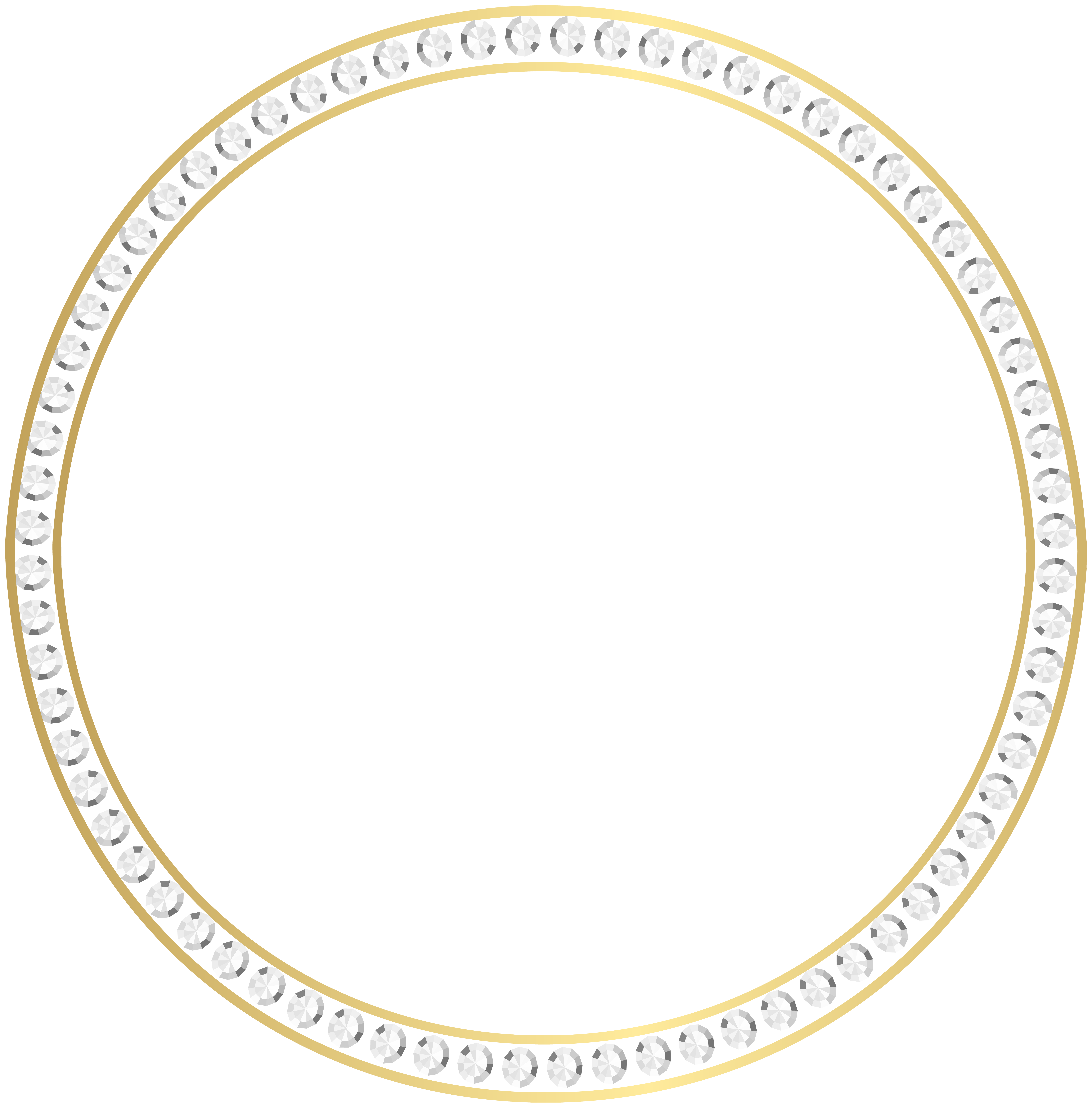 Gold diamond border frame. Grain clipart circle