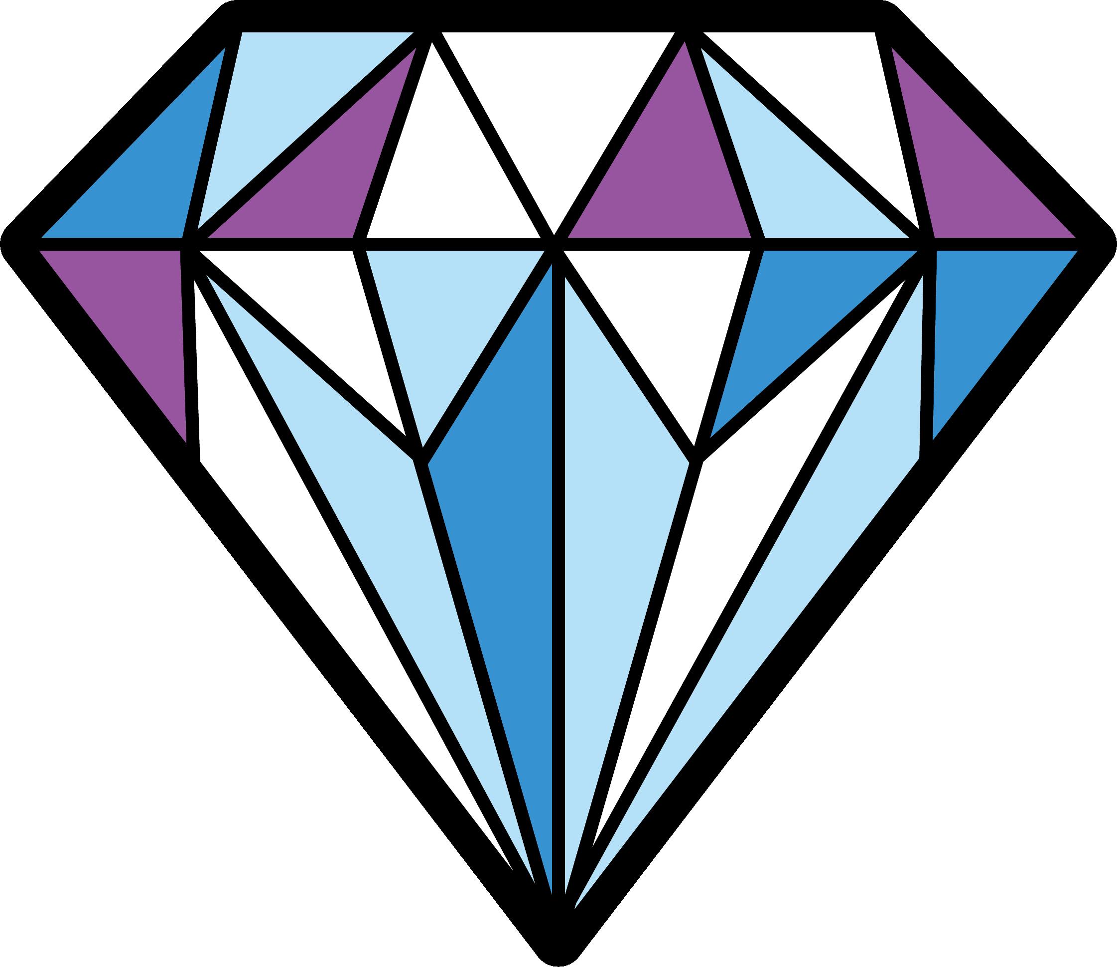 Hd diamonds colorful transparent. Diamond clipart coloured
