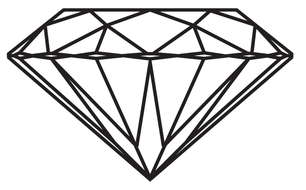 Diamonds clipart line drawing. Diamond clarity carat engagement