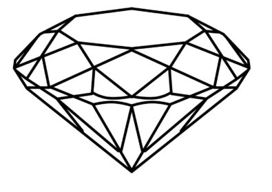 Drawing realistic pencil and. Diamond clipart drawn