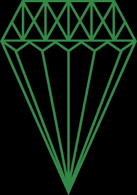 Diamond clipart green diamond. Medium image png