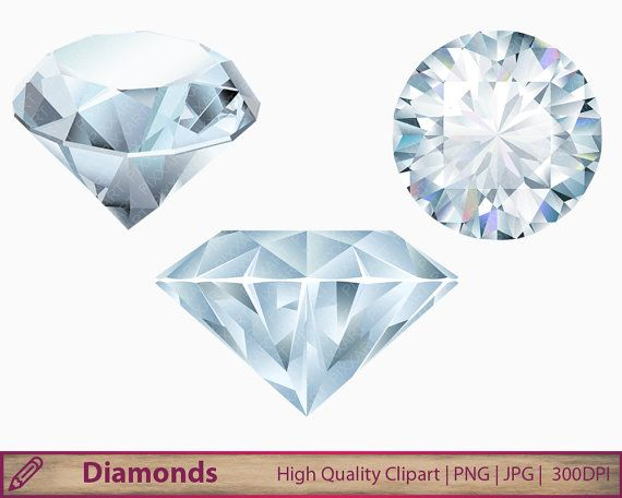 Diamond clipart jewel. Diamonds crystal gems clip