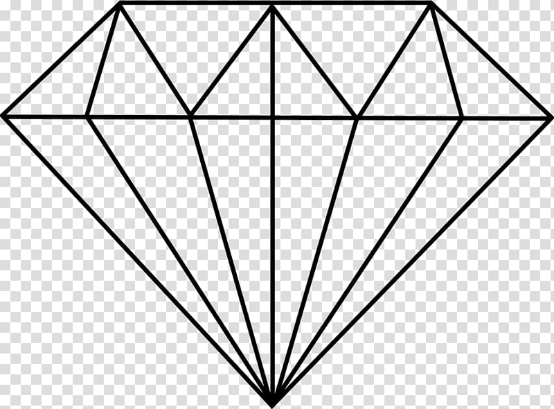 Geometry diamond transparent background. Diamonds clipart line drawing