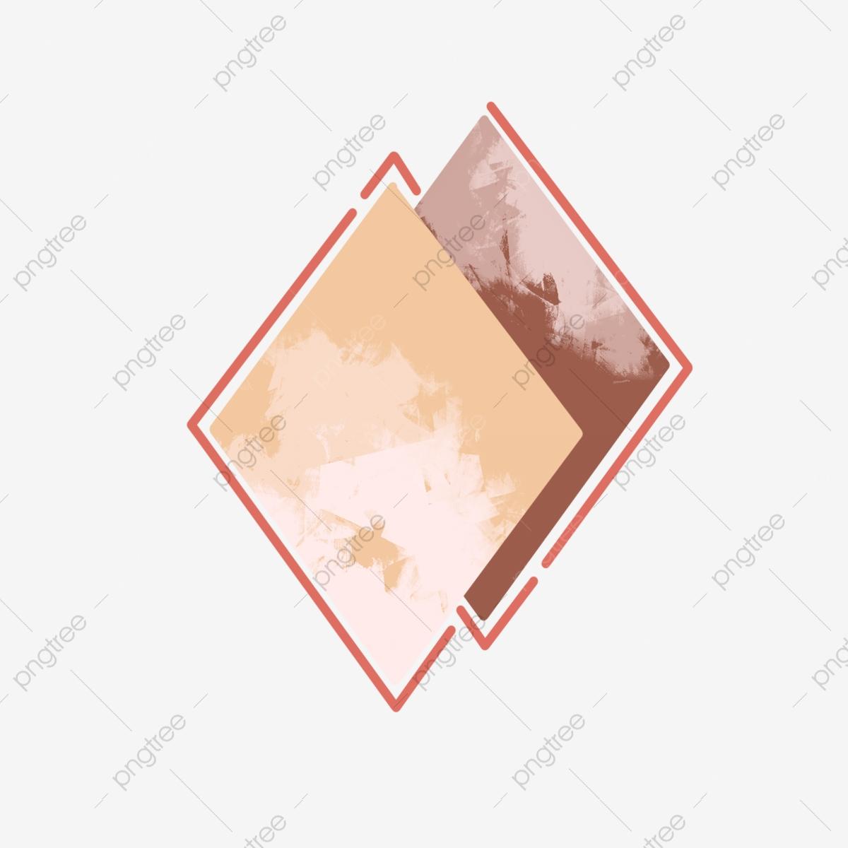 Diamond clipart minimalist. Simple border element decorative