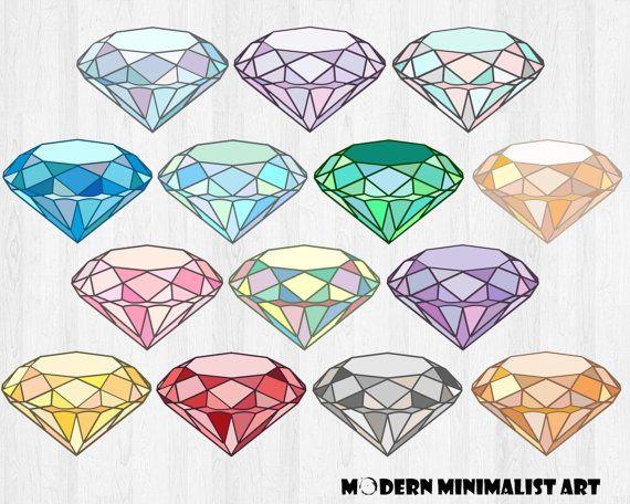 Gems gemstone crystal . Diamond clipart minimalist