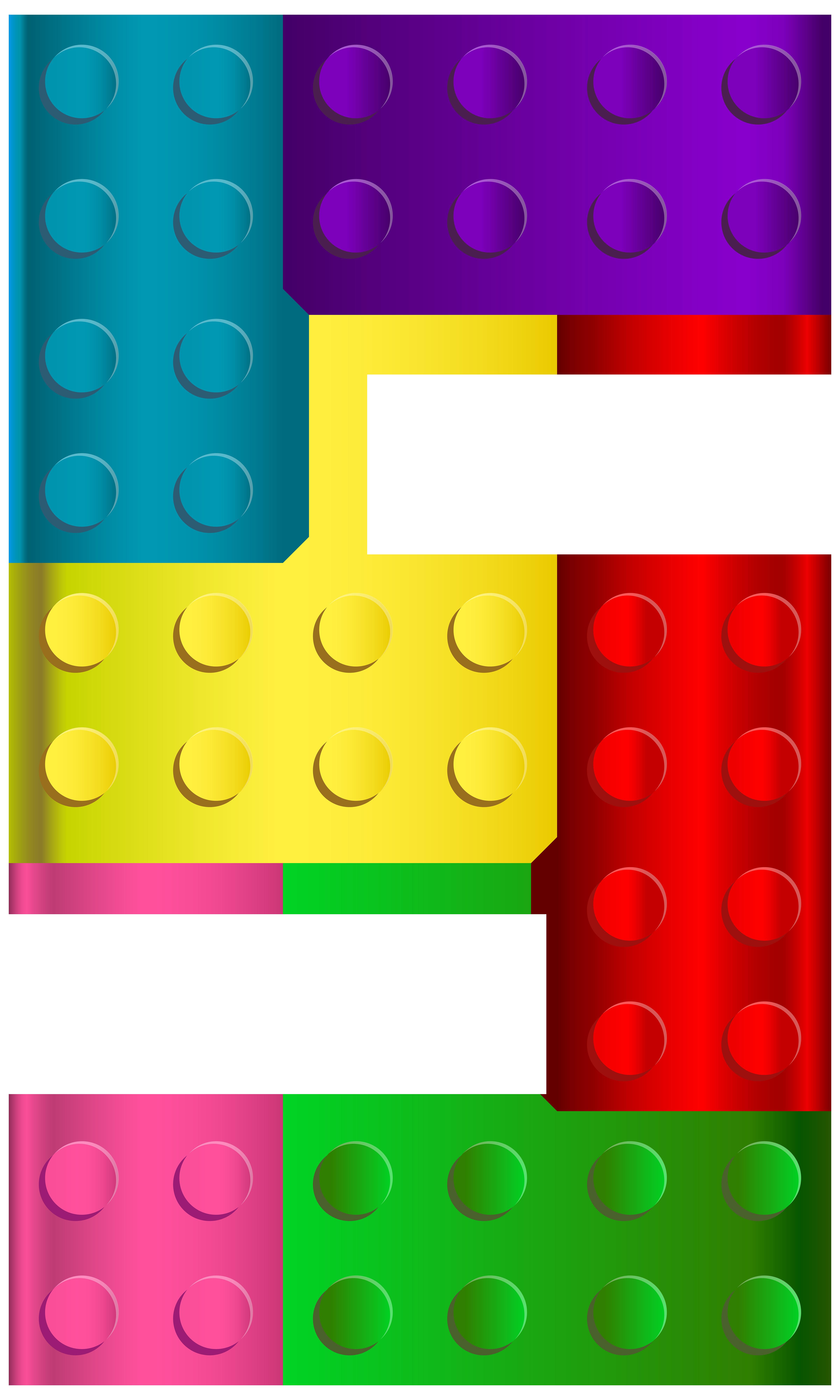 Legos clipart clip art. Lego number five png