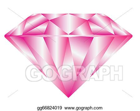 Vector stock illustration gg. Diamond clipart pink