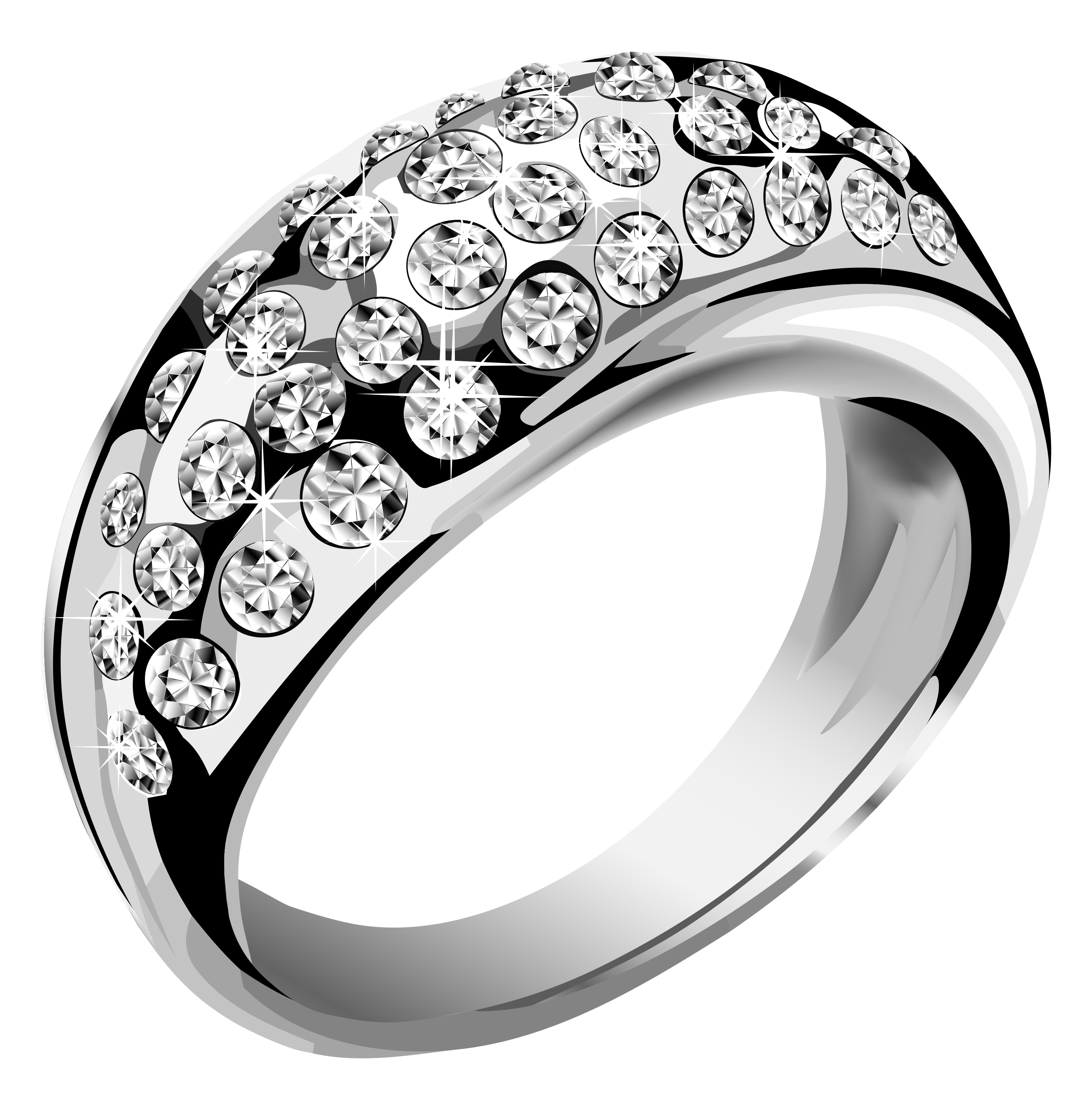 Silver ring with white. Engagement clipart transparent background
