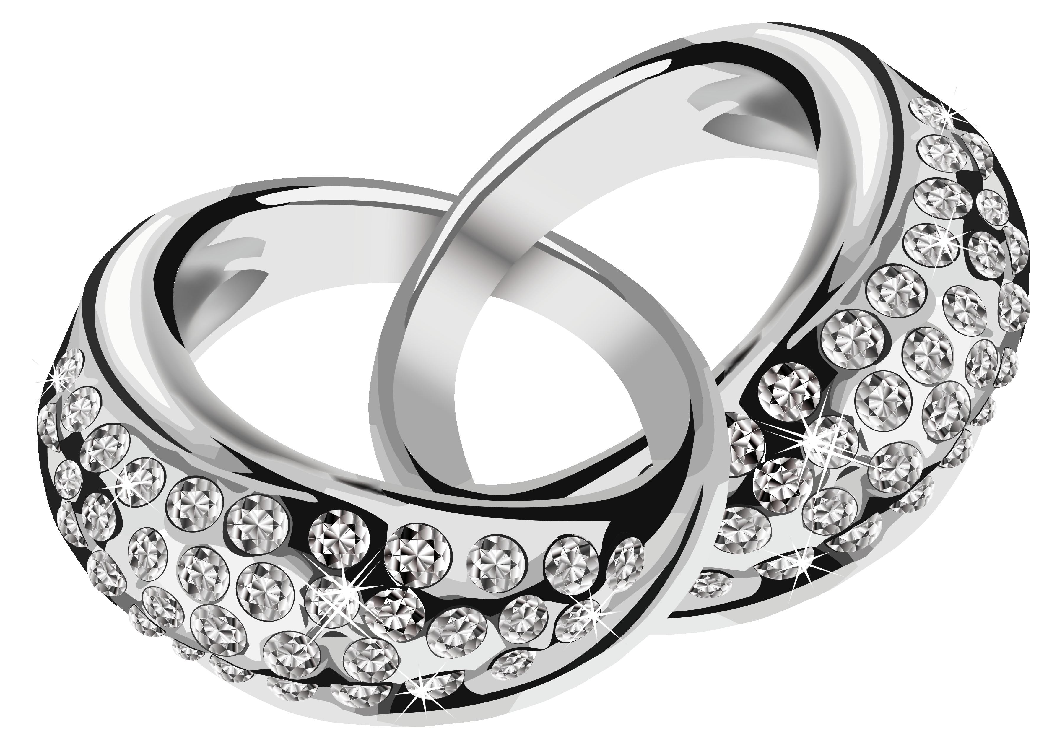 Wedding ring download clip. Diamond clipart platinum