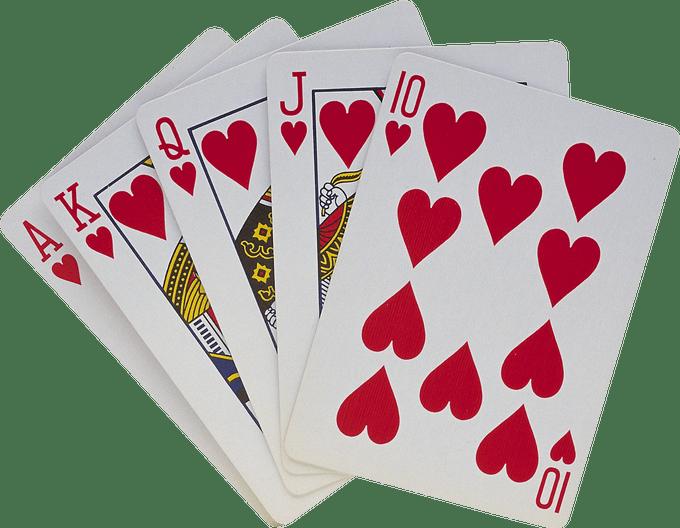 Setback card game rules. Diamond clipart royal flush