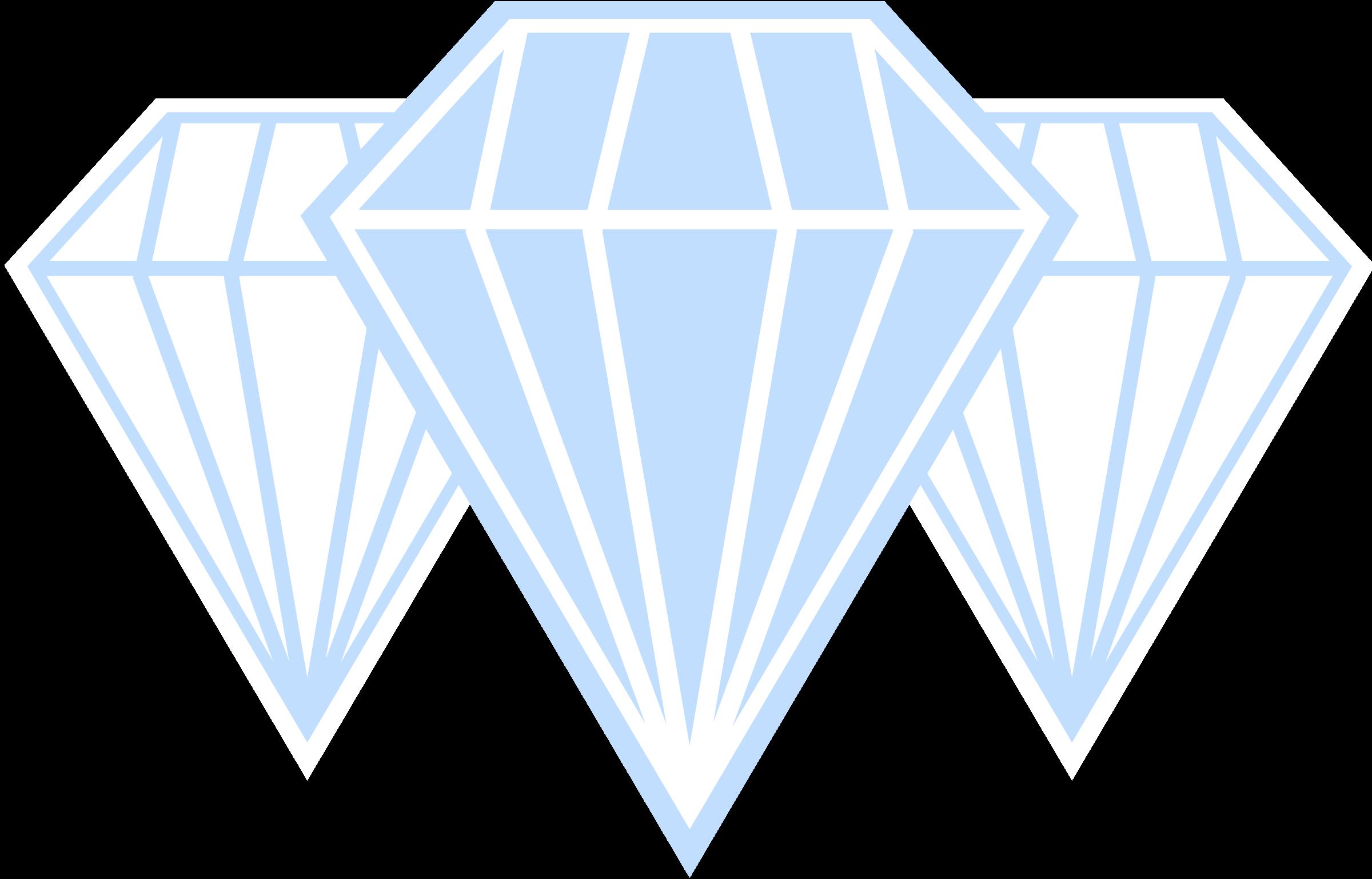 Diamonds clipart triangle.