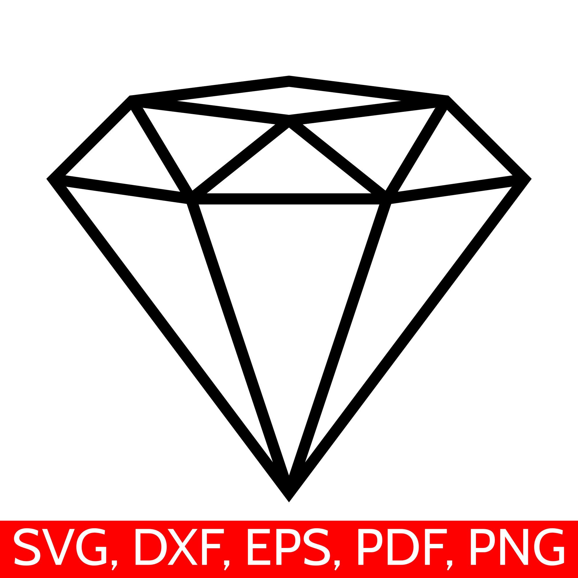 Svg file for cricut. Diamond clipart silhouette