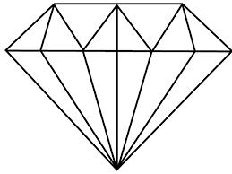 Simple diamond drawing google. Diamonds clipart basic