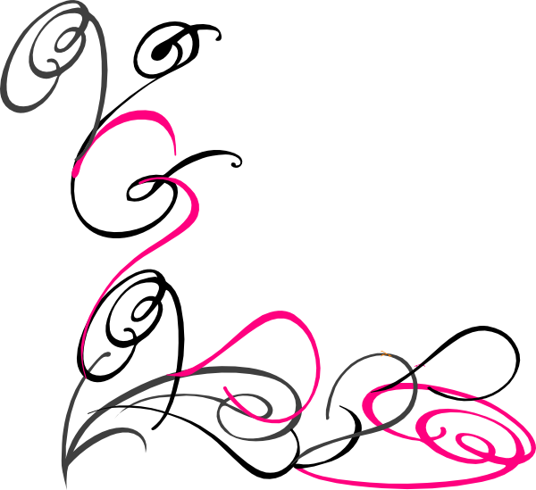 Vector graphics swirls border. Magic clipart decorative swirl