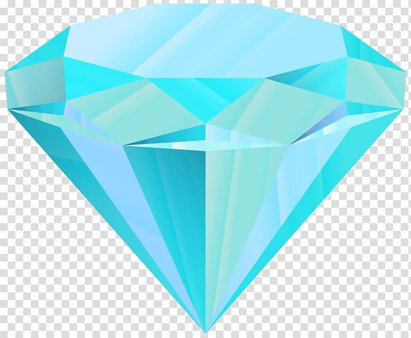 Blue transparent background . Diamond clipart teal