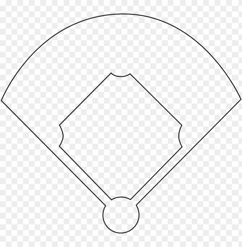 Baseball printable softball field. Diamond clipart template
