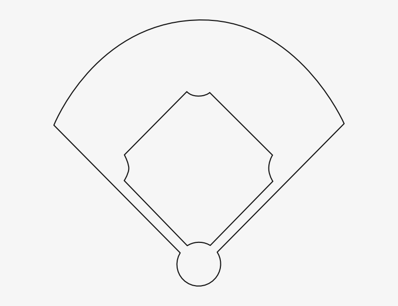 Diamond clipart template. Baseball field printable