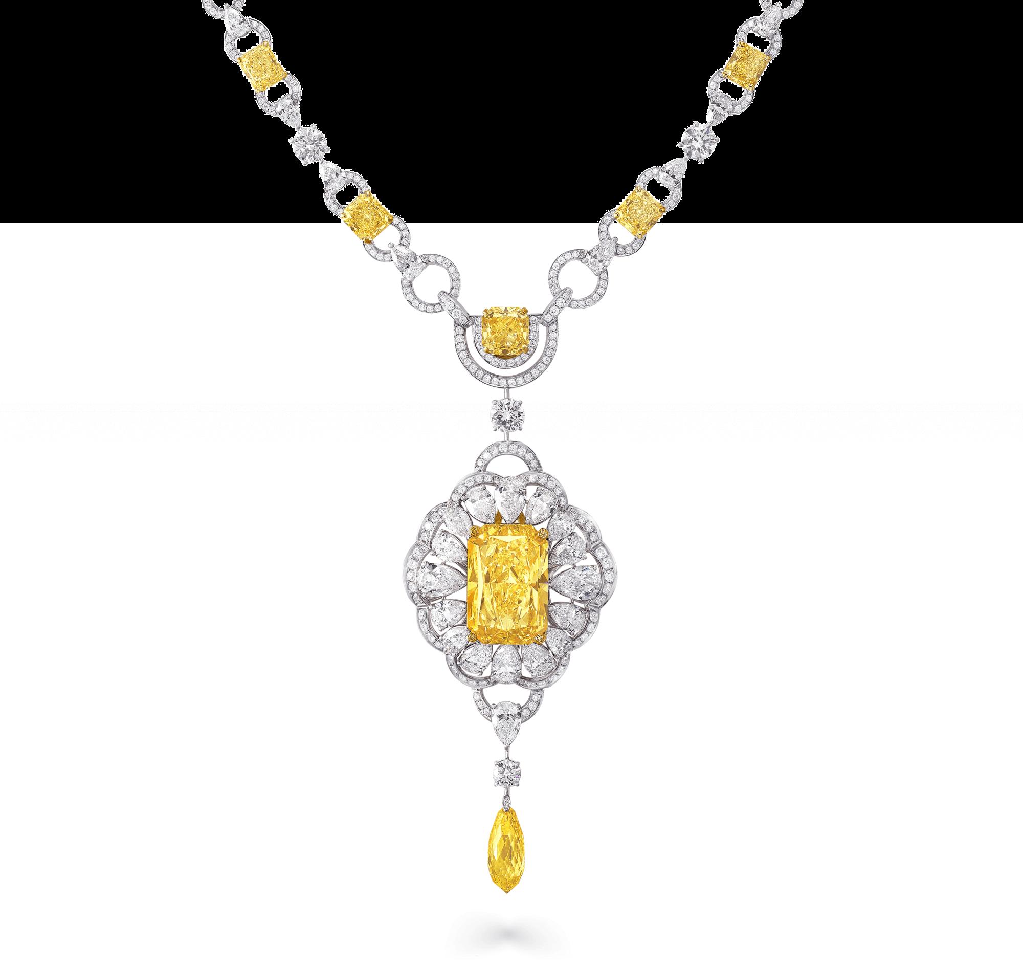 Necklace stupendous diamonds graff. Diamond clipart yellow diamond