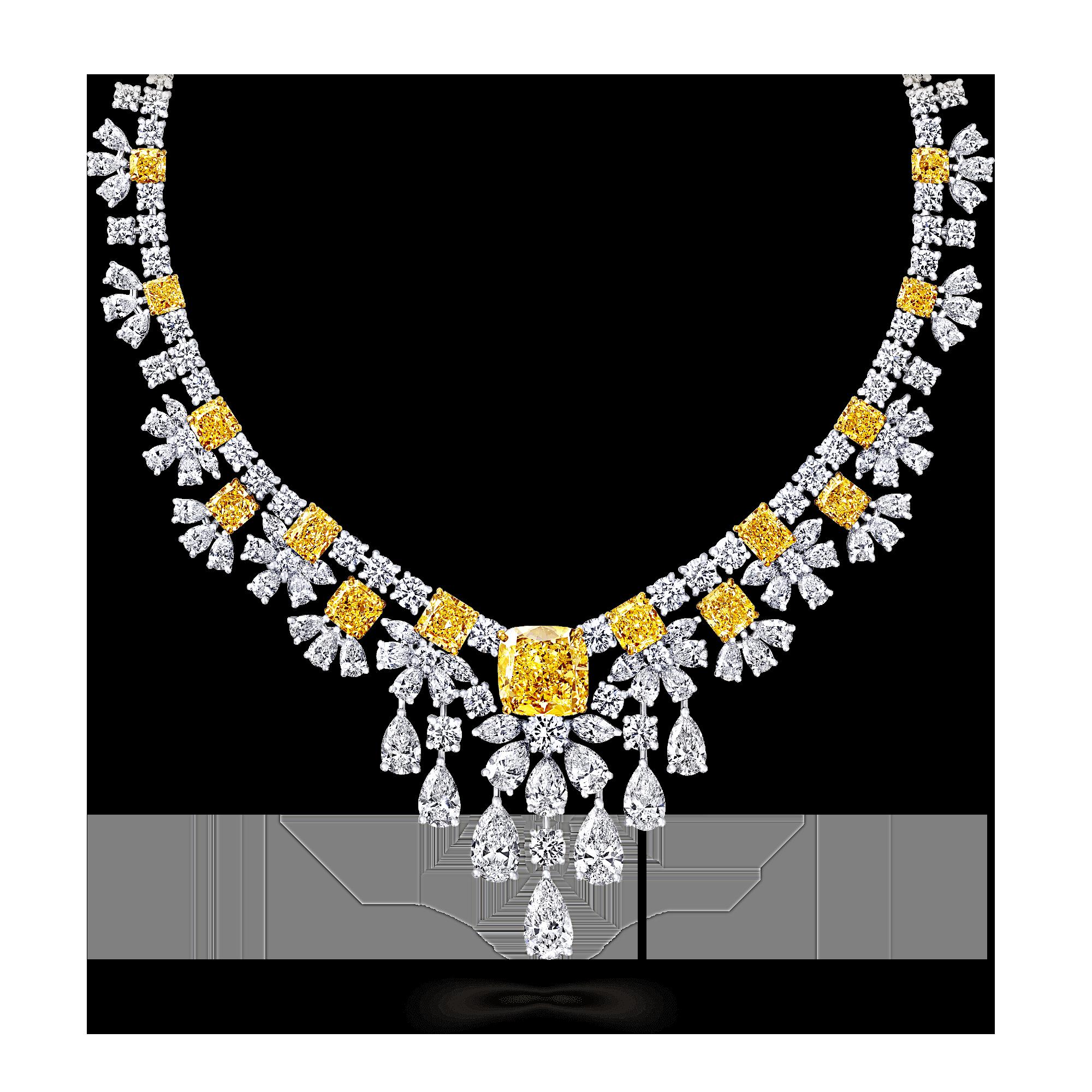 Diamond clipart yellow diamond. Necklace surprising and white