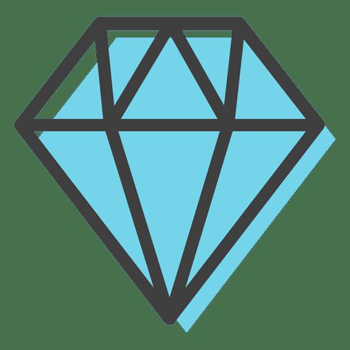 Blue gems decoration transparent. Diamond vector png