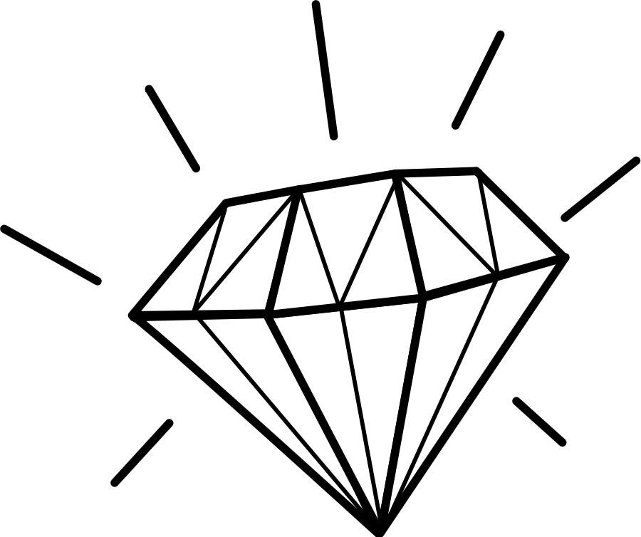 Diamonds clipart. Diamond black and white