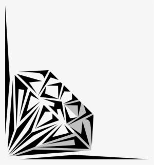 Diamond border png transparent. Diamonds clipart banner