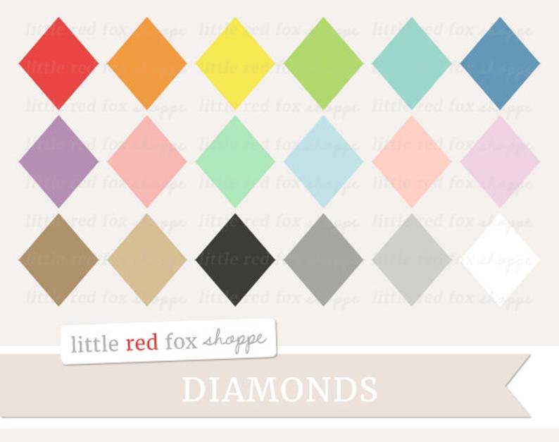 Diamond geometric clip art. Diamonds clipart cute