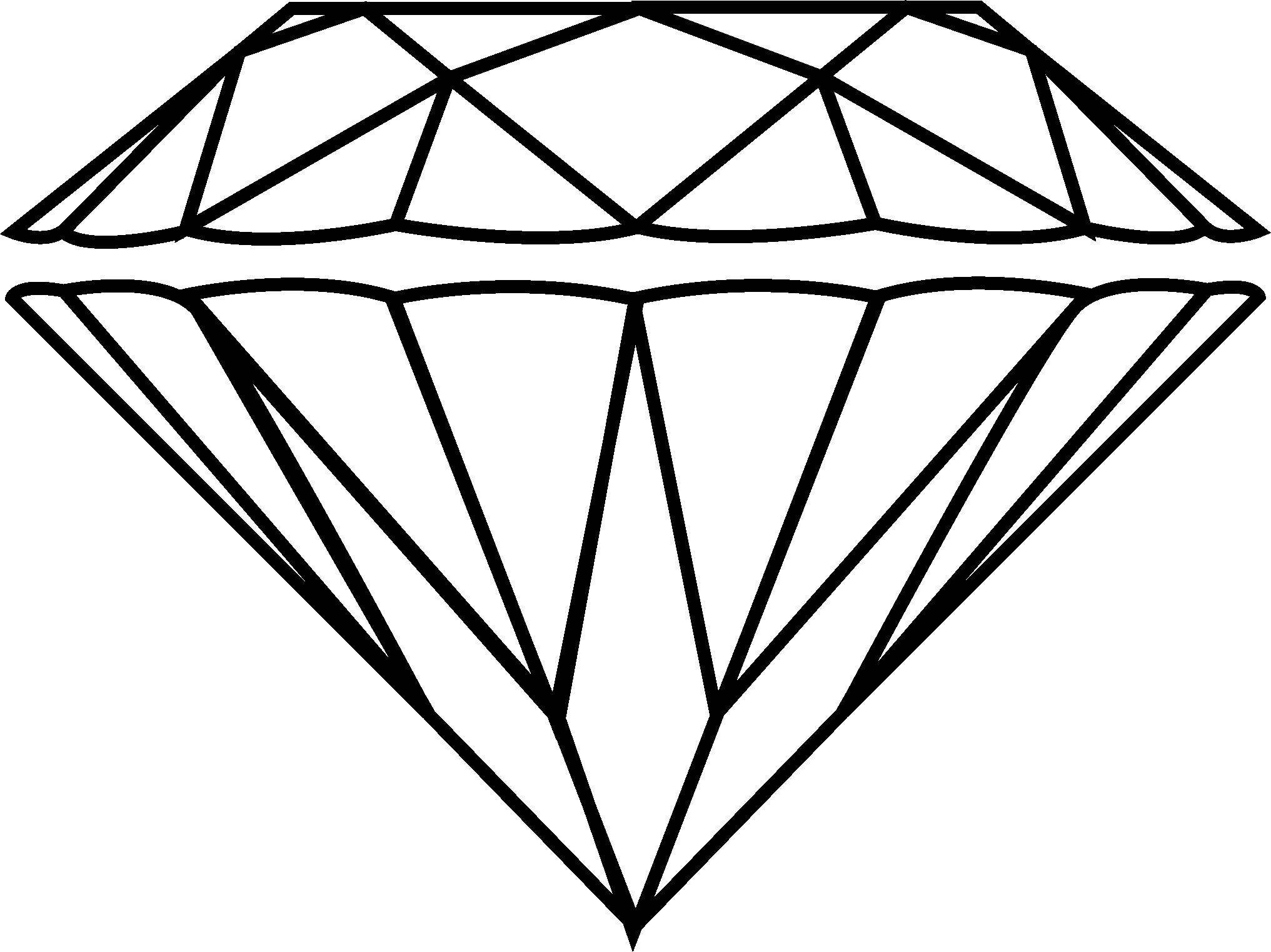 Diamonds clipart drawn. Diamond drawing images at