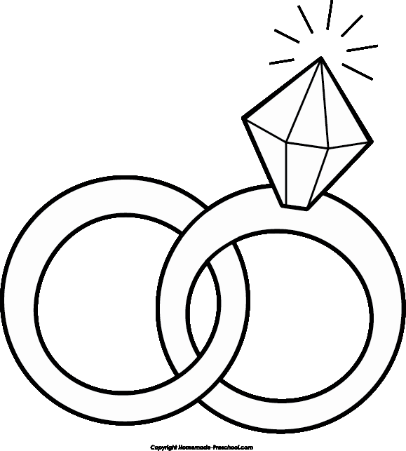 Free images of wedding. Engagement clipart outline