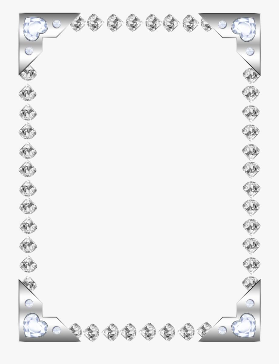 Diamonds clipart frame. Gems diamond border pencil
