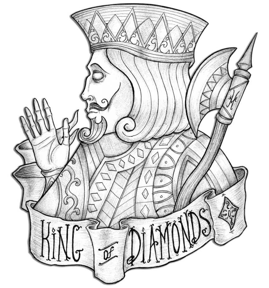King of by edward. Diamonds clipart line drawing