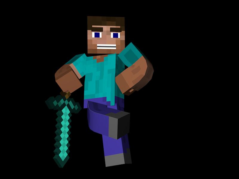 Diamonds clipart minecraft. Steve sword free image