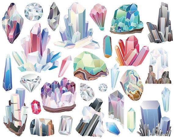 Crystals and minerals dpi. Diamonds clipart mineral