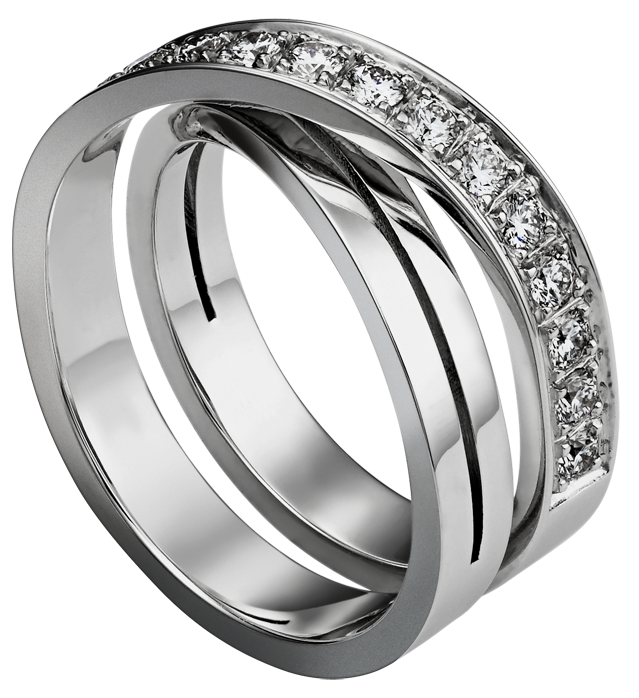 Silver ring with png. Diamonds clipart platinum