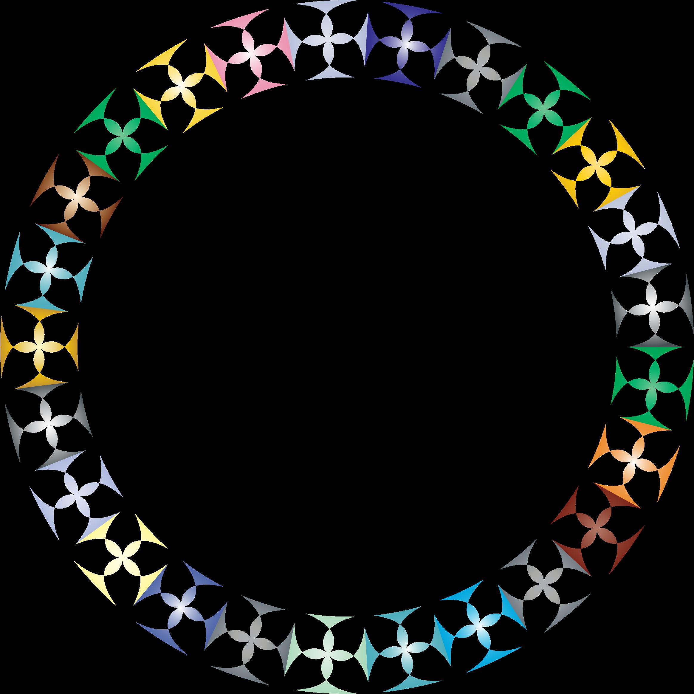 Diamonds clipart rainbow. Prismatic clover circle big