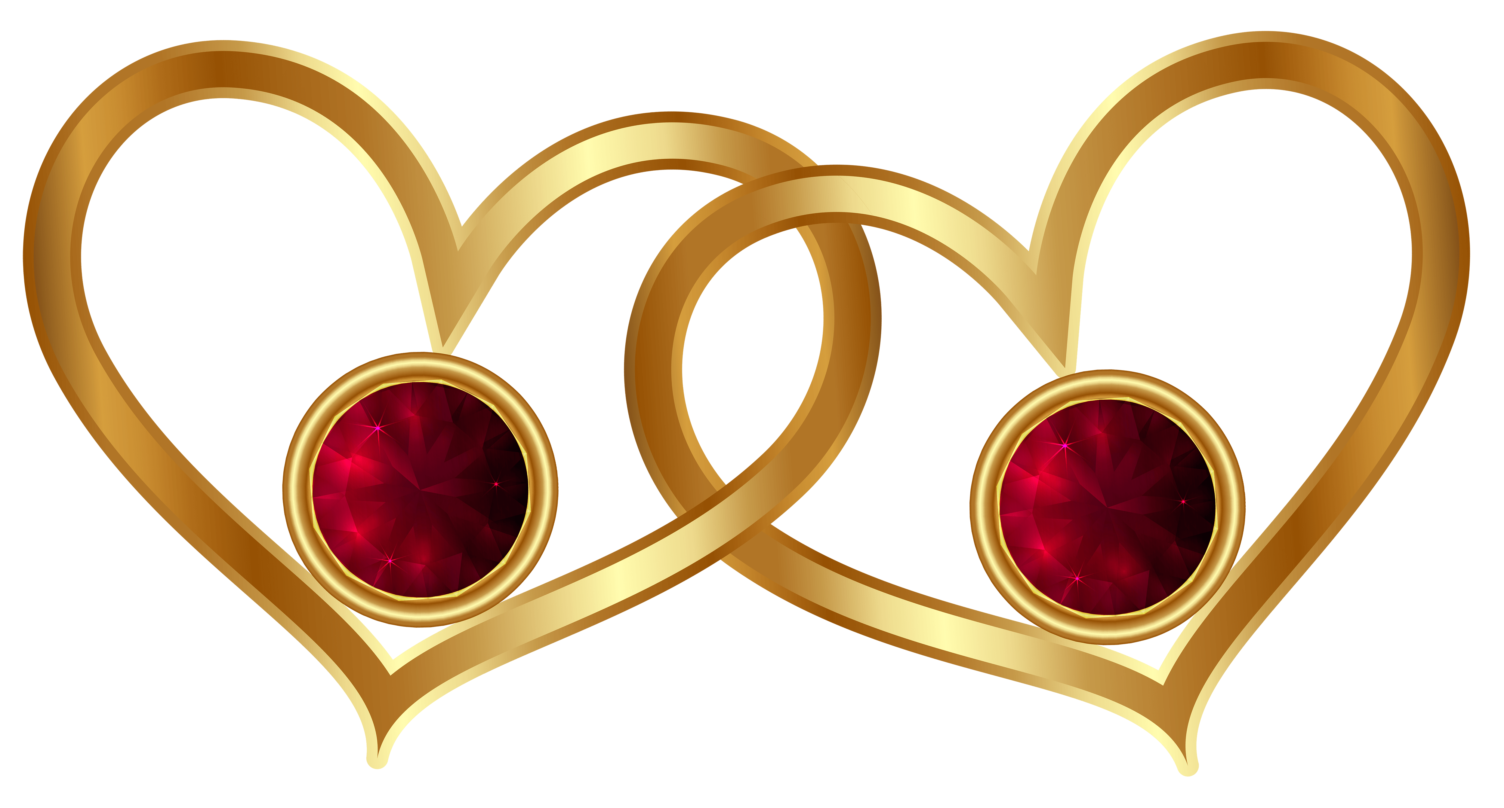 Diamonds clipart red diamond. Golden hearts with png