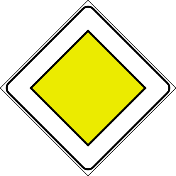 Driving in italy italian. Diamonds clipart road sign