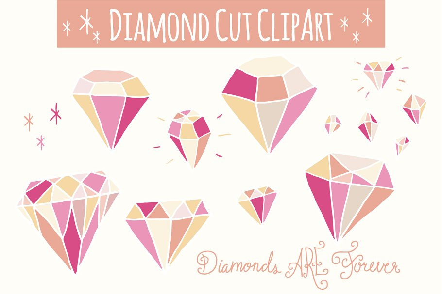 Pink clip art vector. Diamonds clipart small diamond