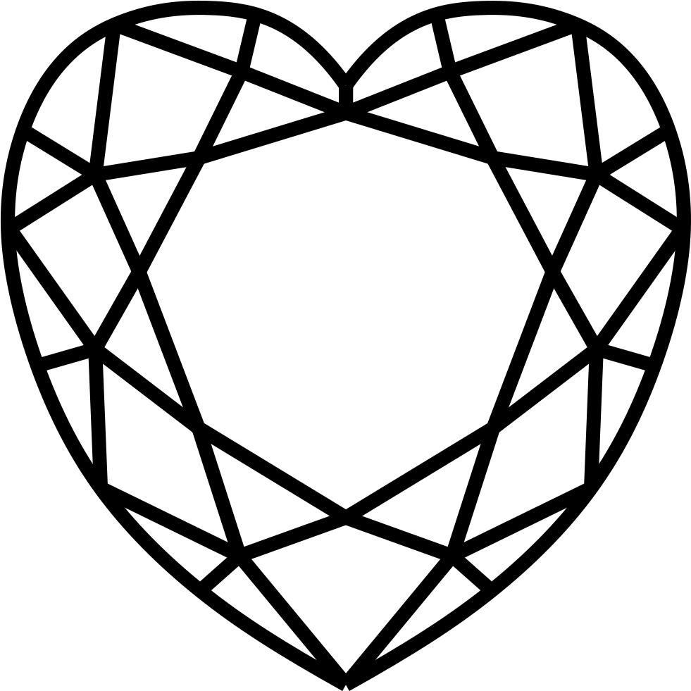 Diamonds clipart top. Hd diamond heart png